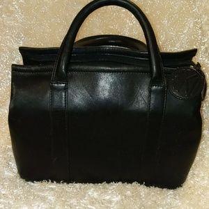 Ann Klein II  VINTAGE Black leather bag